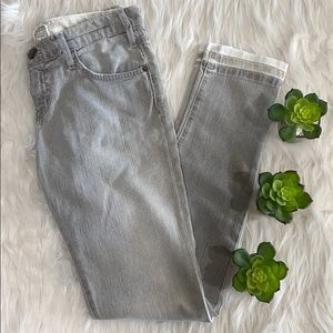 Current/Elliot washed gray jeans